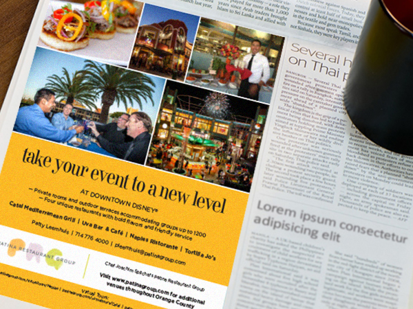 Print Ad of Patina restaurants