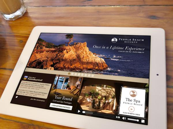 Ad for pebble beach resort